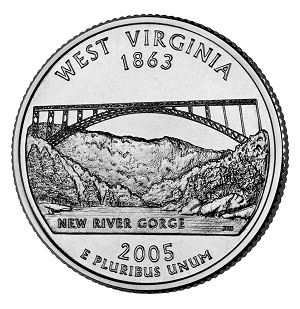 West Virginia State Quarter 2005
