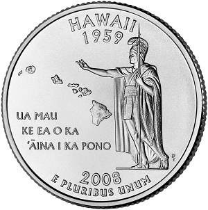 Hawaii State Quarter 2008