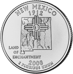 New Mexico State Quarter 2008